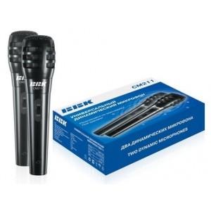 Микрофон BBK CM215, 2.5м (2 шт), черный/серебристый
