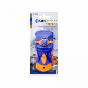 Скребок Euro Kitchen RS-15MB для чистки стеклокерамических оранжевый/синий
