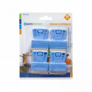 Скребок Euro Kitchen RS-16A для чистки стеклокерамических голубой