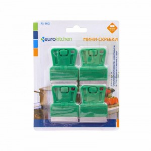 Скребок Euro Kitchen RS-16G для чистки стеклокерамических зелёный