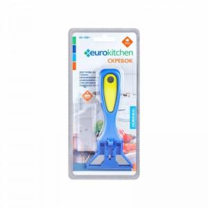 Скребок Euro Kitchen  RS-19BYдля чистки стеклокерамических синий/жёлтый